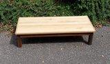 Salontafel op gerecycleerd houten onderstel_